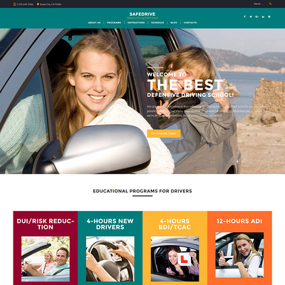 SafeDrive (education WordPress theme) Item Picture