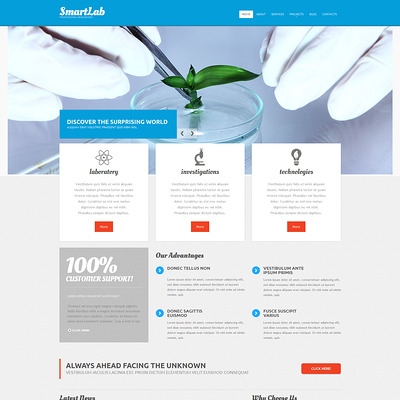 Science Lab Responsive Drupal Template (Drupal theme for education) Item Picture