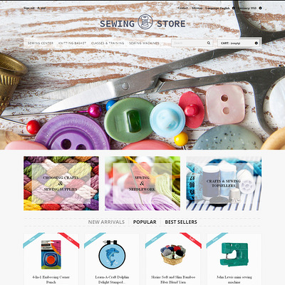 Sewing Lovers PrestaShop Theme (PrestaShop theme for craft stores) Item Picture