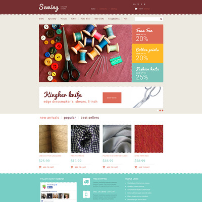 Sewing Store PrestaShop Theme (PrestaShop theme for craft stores) Item Picture