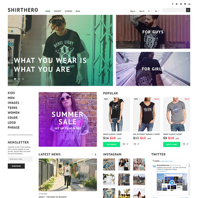 ShirtHero (PrestaShop theme for t-shirt stores) Item Picture