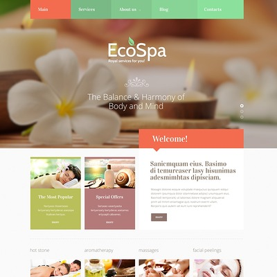 Spa Accessories Responsive Joomla Template (Joomla template for spas and beauty salons) Item Picture