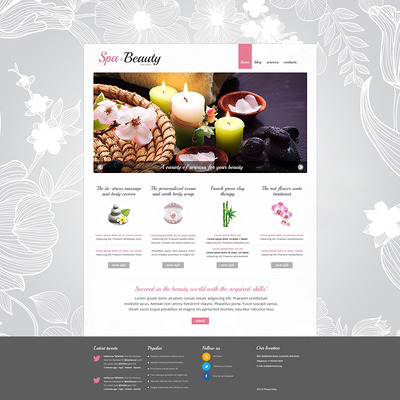 Spa Procedures Joomla Template (Joomla template for spas and beauty salons) Item Picture
