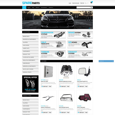 Spare Parts Shopify Theme (Shopify theme for car, vehicle, and automotive stores) Item Picture