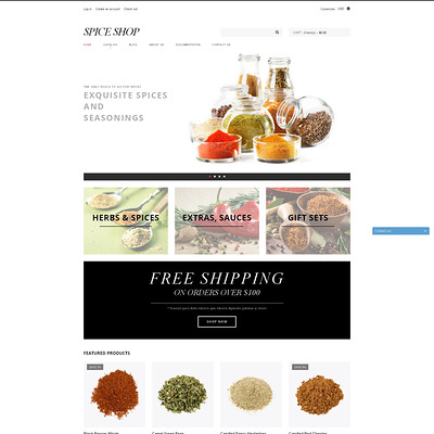 Spice Shop Responsive Shopify Theme (Shopify theme for food) Item Picture