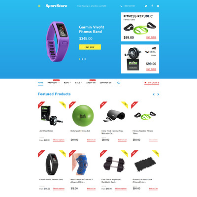 Sport Store Shopify Theme (Shopify theme for sports stores) Item Picture