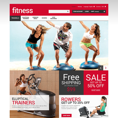 Sport and Fitness Store PrestaShop Theme (PrestaShop theme for sports stores) Item Picture