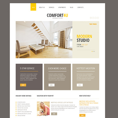 Square Real Estate Joomla Template (Joomla theme for real estate) Item Picture
