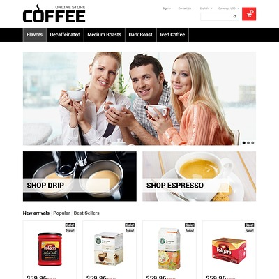 Strong Coffee PrestaShop Theme (PrestaShop theme for tea and coffee) Item Picture