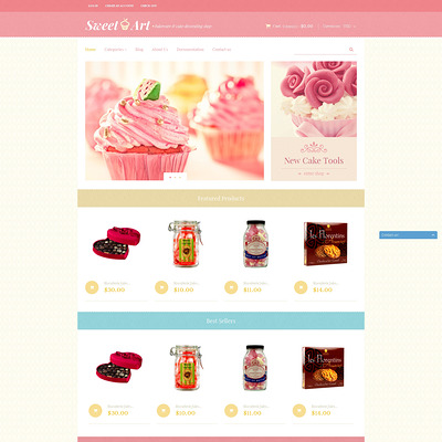 Sweet Shop Responsive Shopify Theme (Shopify theme for food) Item Picture
