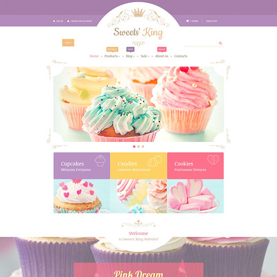 Sweets' King Shopify Theme (Shopify theme for food) Item Picture