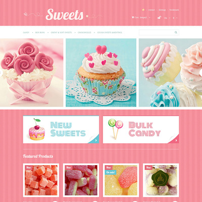 Sweets Store PrestaShop Theme (PrestaShop theme for food stores) Item Picture