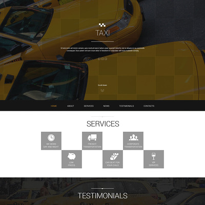 Taxis in Big Cities Joomla Template (Joomla template for transportation) Item Picture