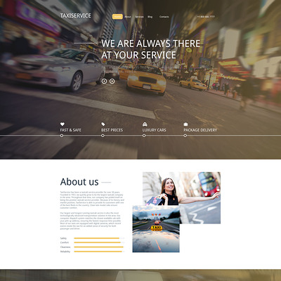 Taxiservice Drupal Template (Drupal theme for transportation websites) Item Picture