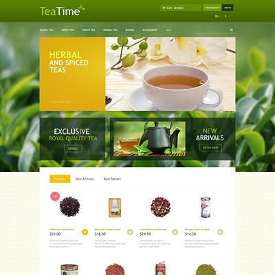 Tea Store PrestaShop Theme (PrestaShop theme for tea and coffee) Item Picture