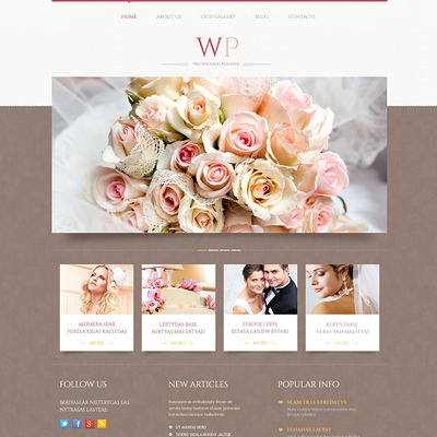Tender Wedding Planner WordPress Theme (WordPress theme for wedding professionals) Item Picture