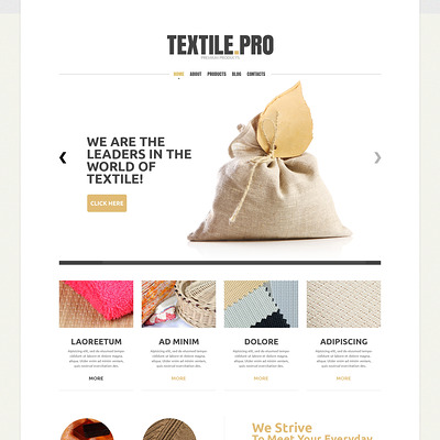 Textile Industry Joomla Template (Joomla template for industrial companies) Item Picture
