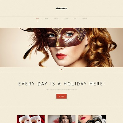 Theater Responsive WordPress Theme (WordPress theme for theaters) Item Picture