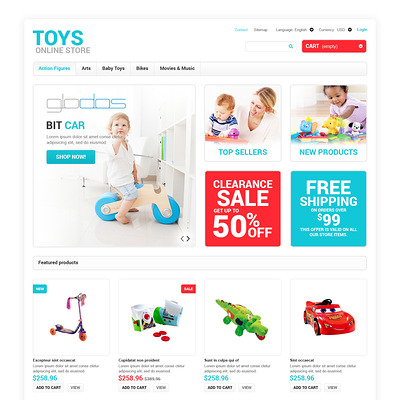Toys for Any Age PrestaShop Theme (PrestaShop theme for toy stores) Item Picture