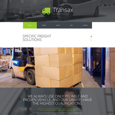 Transax Joomla Template (Joomla template for transportation) Item Picture