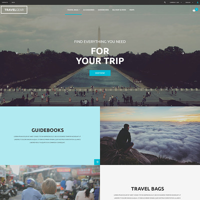 Travel Gear PrestaShop Theme (PrestaShop themes for travel and tourism companies) Item Picture