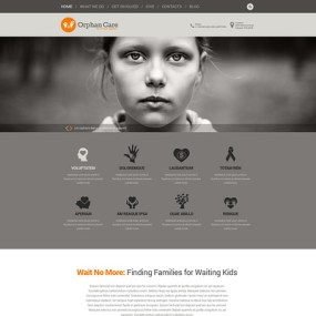 Uniting Families WordPress Theme (charity WordPress theme) Item Picture