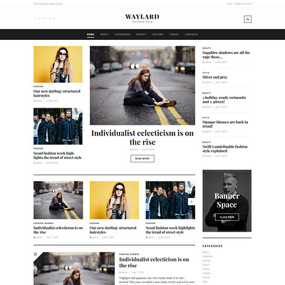 Waylard (WordPress theme for fashion blogs) Item Picture