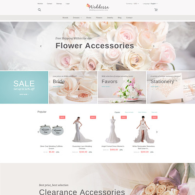 Weddessa (PrestaShop theme for wedding stores) Item Picture