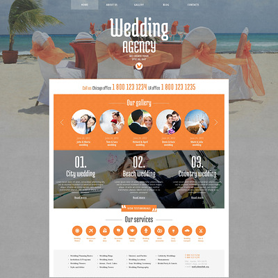 Wedding Planner Responsive WordPress Theme (WordPress theme for wedding professionals) Item Picture