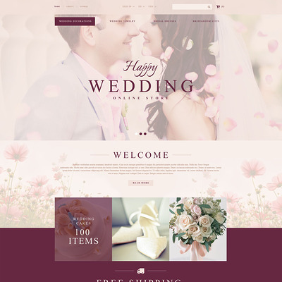 Wedding Store PrestaShop Theme (PrestaShop theme for wedding stores) Item Picture