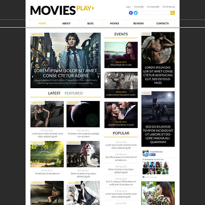World Fashion News Portal WordPress Theme (WordPress theme for movie websites) Item Picture