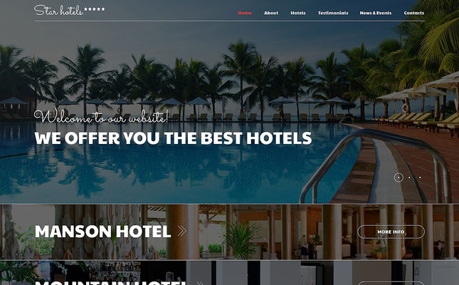best hotels joomla templates feature
