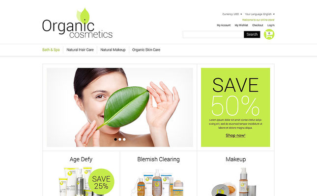 best magento themes hair beauty products feature