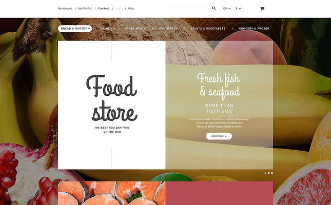 best magento themes selling food spices feature
