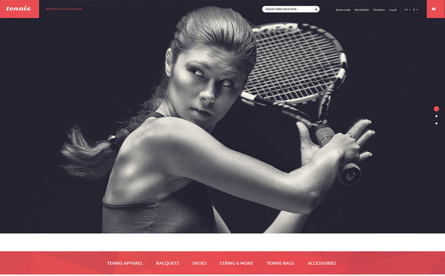 best magento themes sports stores feature