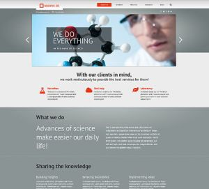 best science wordpress themes feature
