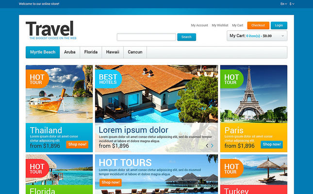 best travel magento themes feature