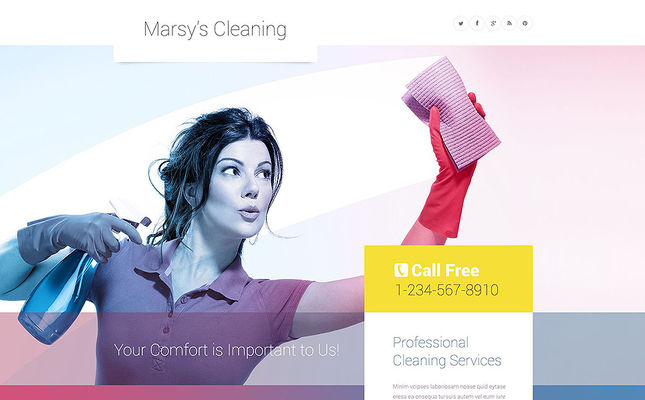 best wordpress themes maid services cleaning companies feature