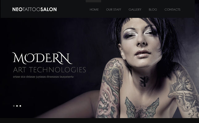 best wordpress themes tattoo studios feature