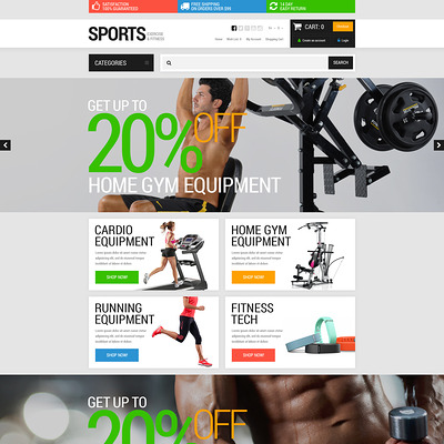 Active Sports Store OpenCart Template (OpenCart theme for sports, gym, and fitness stores) Item Picture