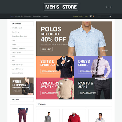 Apparel Responsive OpenCart Template (OpenCart theme for clothing stores) Item Picture