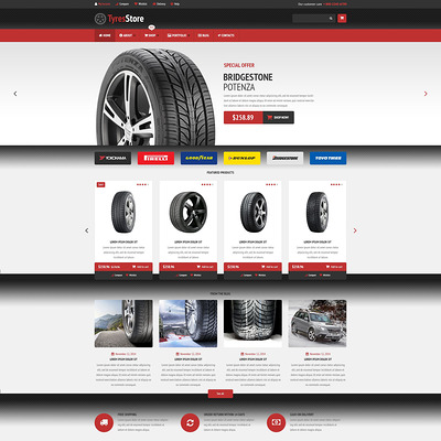 Auto Parts Store WooCommerce Theme (WooCommerce theme for car, vehicle, and automotive stores) Item Picture