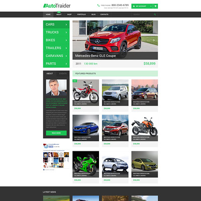AutoTraider WooCommerce Theme (WooCommerce theme for car, vehicle, and automotive stores) Item Picture