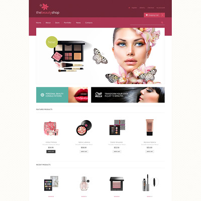Beauty Shop WooCommerce Theme (WooCommerce theme for selling perfumes, hair products, and cosmetics) Item Picture