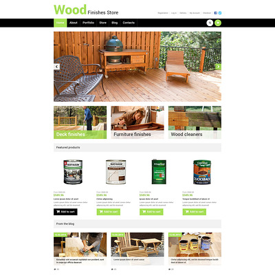 Best Wood Finishes Store WooCommerce Theme (WooCommerce theme for home improvement and construction supplies) Item Picture