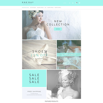Bridal Shopping OpenCart Template (OpenCart theme for wedding stores) Item Picture