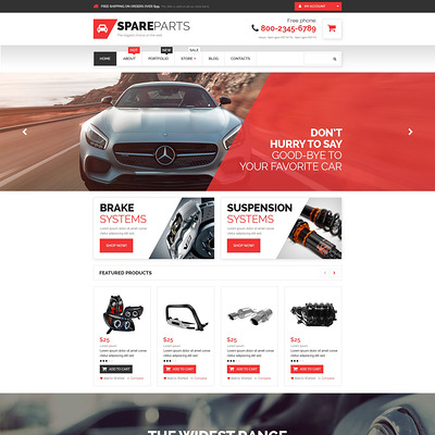 Car Parts Store WooCommerce Theme (WooCommerce theme for car, vehicle, and automotive stores) Item Picture