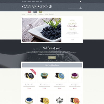Caviar Delicacy WooCommerce Theme (WooCommerce theme for selling food and spices) Item Picture