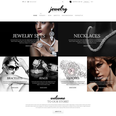 Charming Jewelry Shopify Theme (parallax Shopify theme) Item Picture
