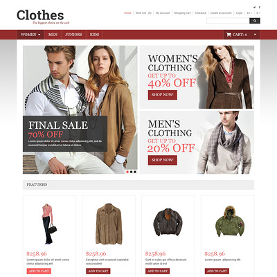 Clothes Store OpenCart Template (OpenCart theme for clothing stores) Item Picture
